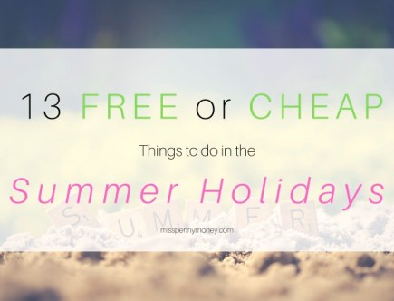 Free or Cheap Things to Do in the Summer Holidays