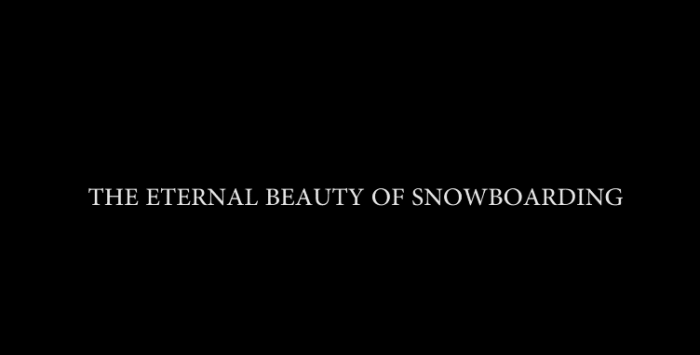 FBF: The Eternal Beauty of Snowboarding