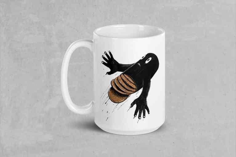 Tea and Biscuits mountain bike film mug