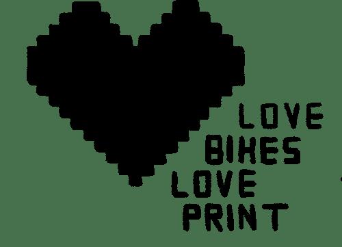 Love bikes love print