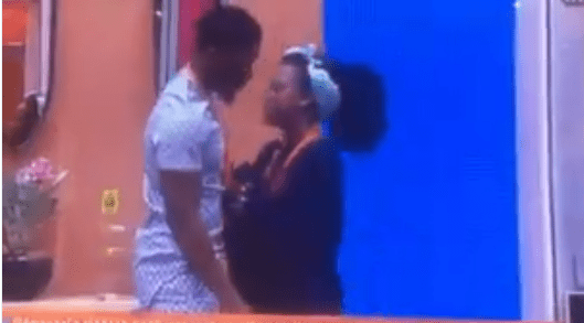 #BBNaija Tobi begs Cee-C for a kiss and she curves him…..