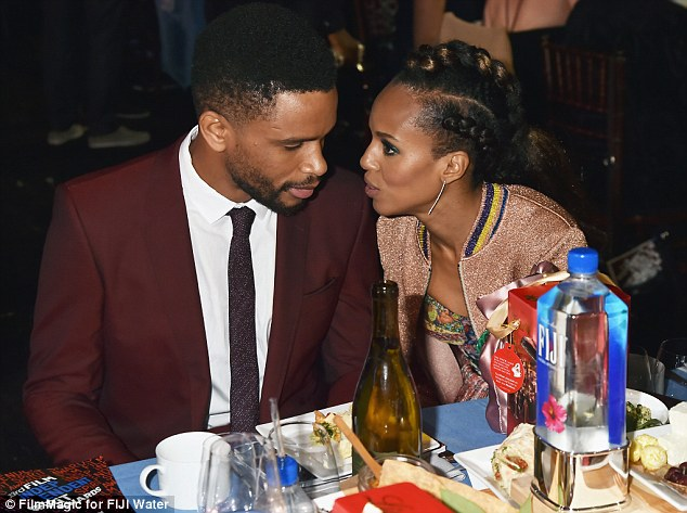 Kerry Washington makes rare appearance with husband Nnamdi Asomugha
