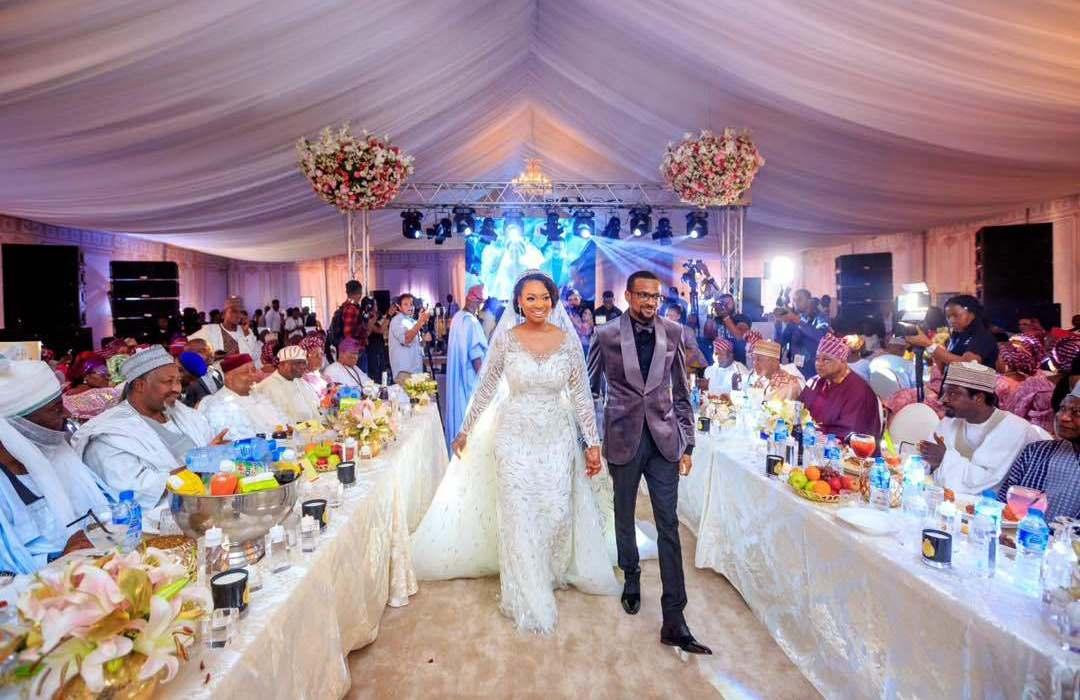 Fateema Ganduje is stunning in her Zuhair Murad wedding dress