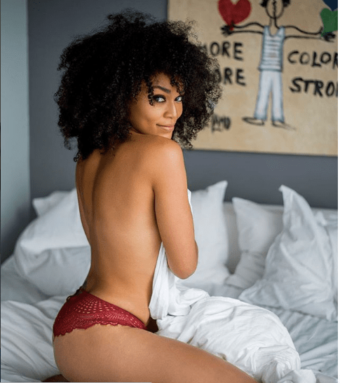 Pearl Thusi poses topless in new sexy photos