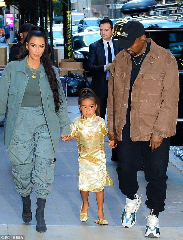 Kim Kardashian, North West and Kanye West step out in style for the 5,year  old\u0027s birthday bash
