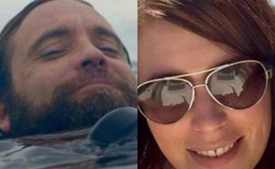 Photos of couple who died while taking selfie
