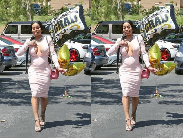 Blac Chyna 'reacts 'to pregnancy rumours