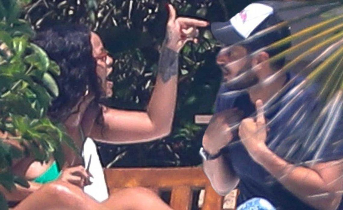 PHOTOS: Rihanna has heated exchange with billionaire boyfriend ,Hassan Jameel in Mexico
