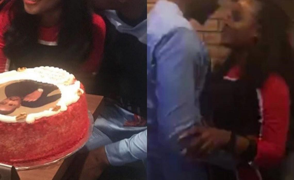Cee-C and Leo DaSilva share romantic moments at his birthday dinner
