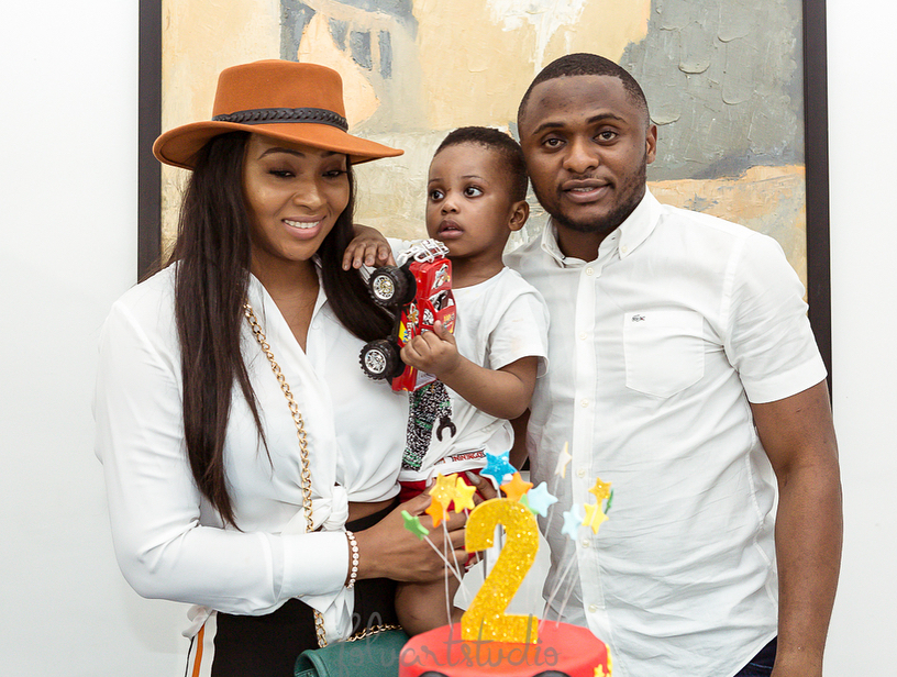 Ubi Franklin and Lilian Esoro unite for son's birthday