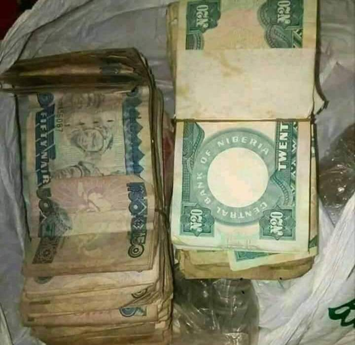 Man finds old Naira notes that grandfather forgot in the house