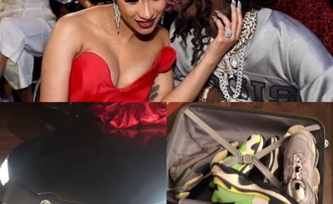 Cardi B 'throws' sneakers she bought Offset after he gifted her a Lamborghini