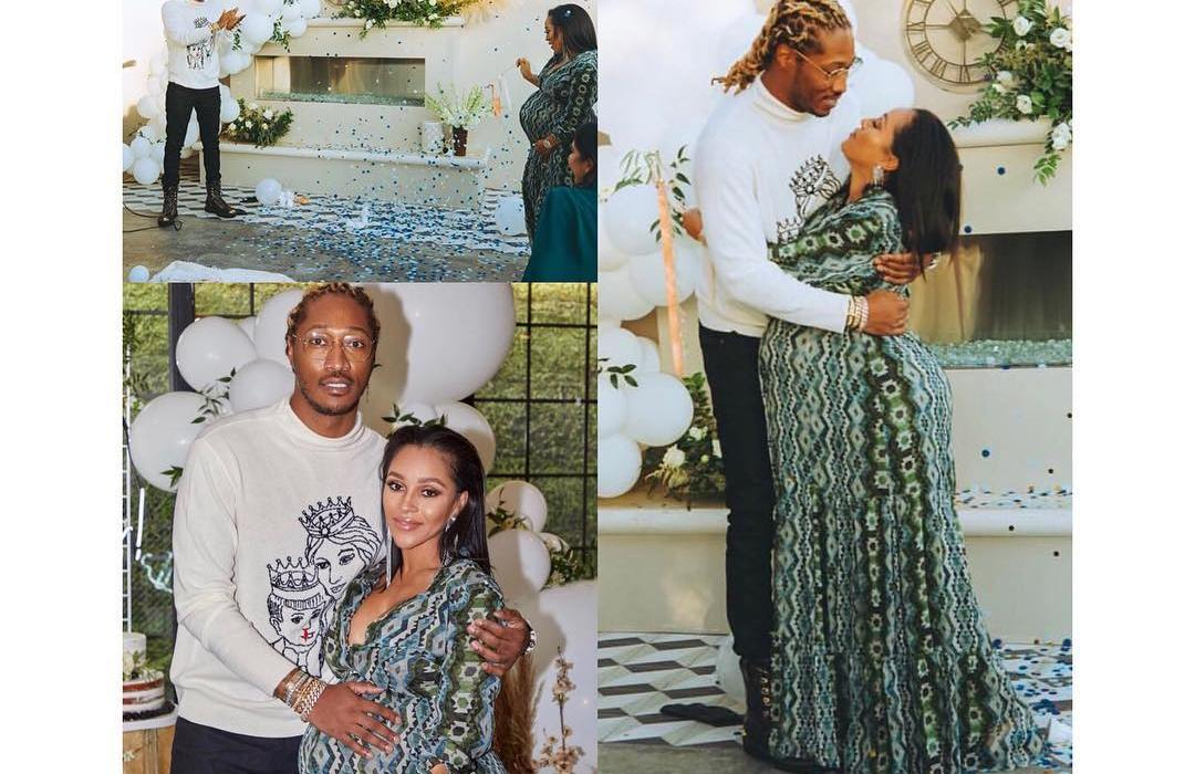 Future attends his 5th babymama, Joe Chavis' baby shower