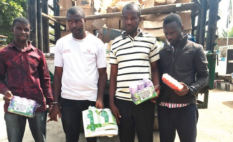 Police arrest four for producing adulterated disinfectant in Lagos