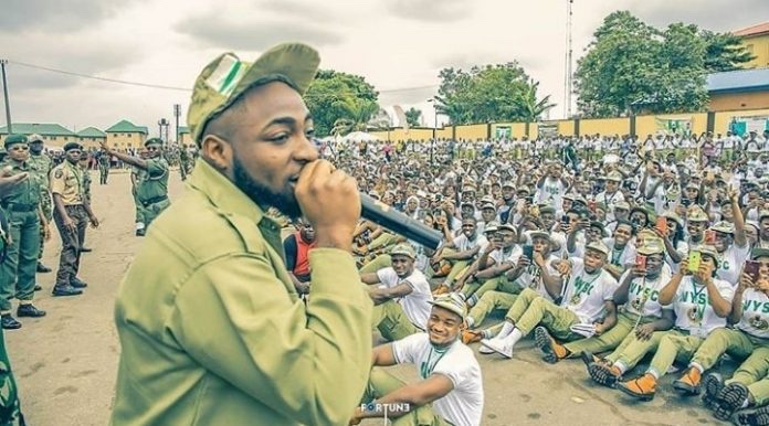 Revealed :Why Davido was sanctioned by NYSC