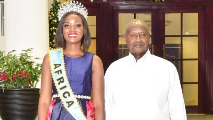 Ugandan president tells Miss World Africa to stop wearing weaves