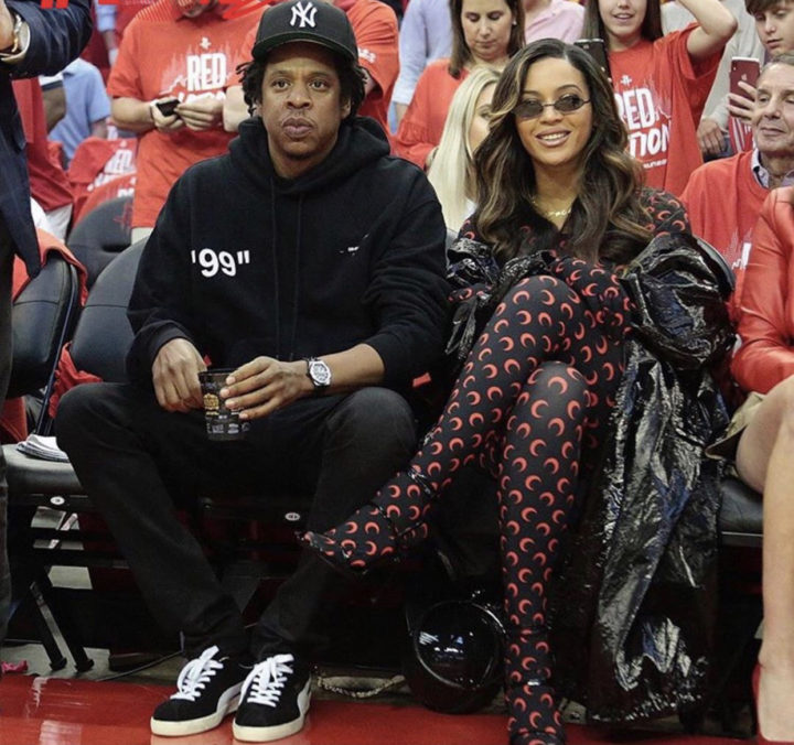 Beyonce and Jay-Z spotted at basketball game