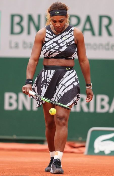 Serena Williams hits the French Open in style following catsuit ban