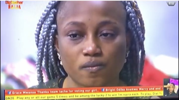 #Bbnaija : Esther In Tears after Nelson Got Evicted (Video)