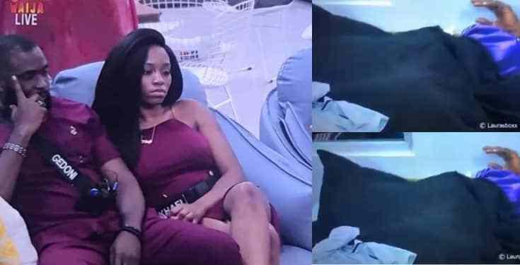 #Bbnaija : Khafi Moans While Having Sex With Gedoni Again (video)