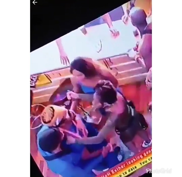 "#Bbnaija : Ike fights Tuoyo after he caught him ""banging"" Mercy (Video)"
