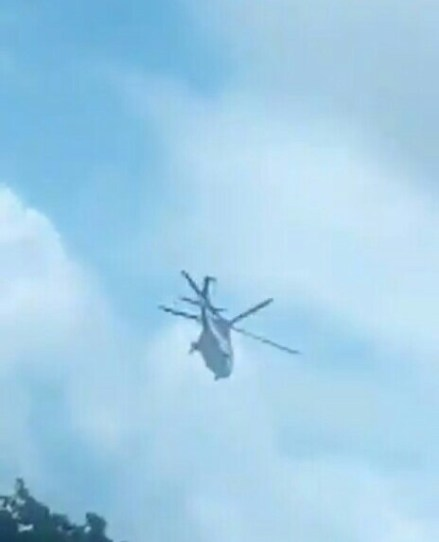 Helicopter Drops Nigerian Law School's Exam Papers (Video)