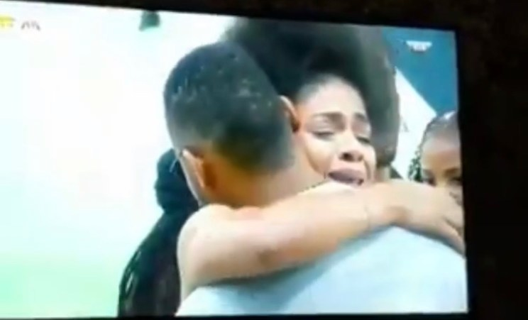 #BBNaija: Venita Cries As Joe Is Evicted (Video) )