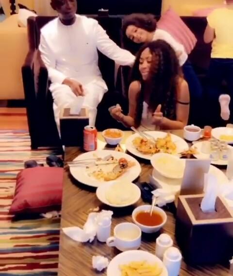 Regina Daniels And Ned Nwoko Have Dinner Together (Video) )