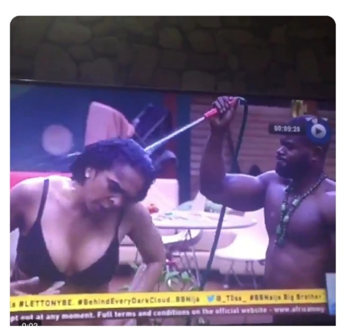 #BBNaija: Kemen & Tboss Trend After Esther, Frodd Pant Removal, Tboss Video Dug Up