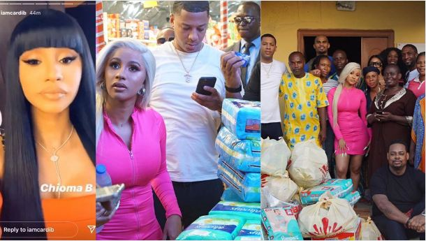 Cardi B Visits Motherless Baby Home In Lagos With Lots Of ...