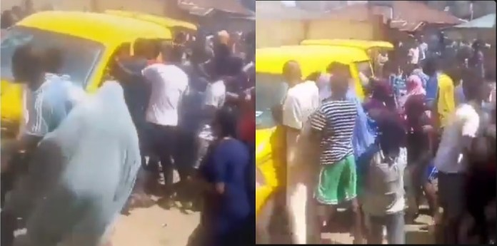 Hungry Nigerians Attack Bus Transporting Bread In Agege, Lagos (Video)