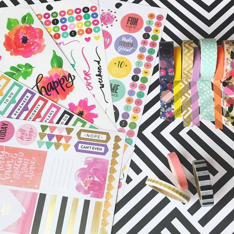 Happy Planner Sticker Book and Washi Tape Review