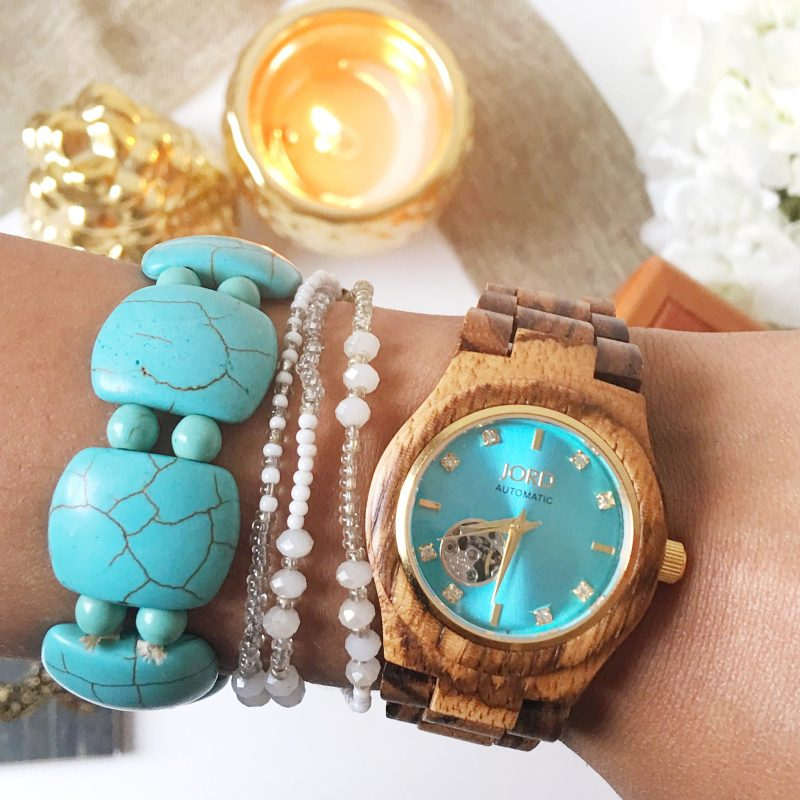Jord Wood Watch Zebrawood & Turquoise Unboxing + Giveaway