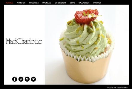 MadCharlotte webpage Fioravante