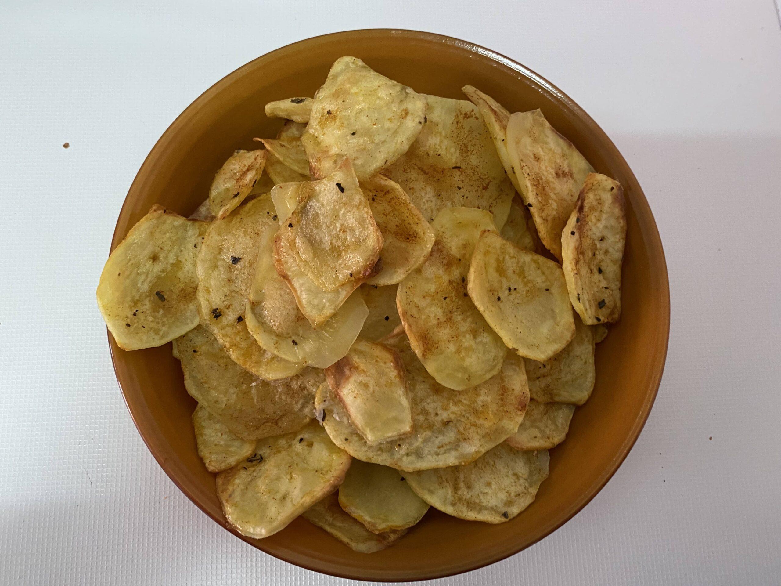 Patatas chips al horno
