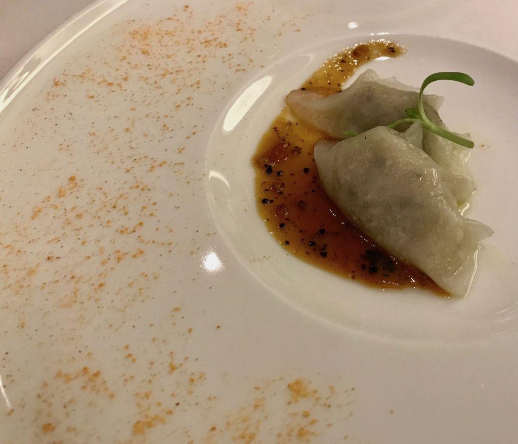 Avartana pork dumpling