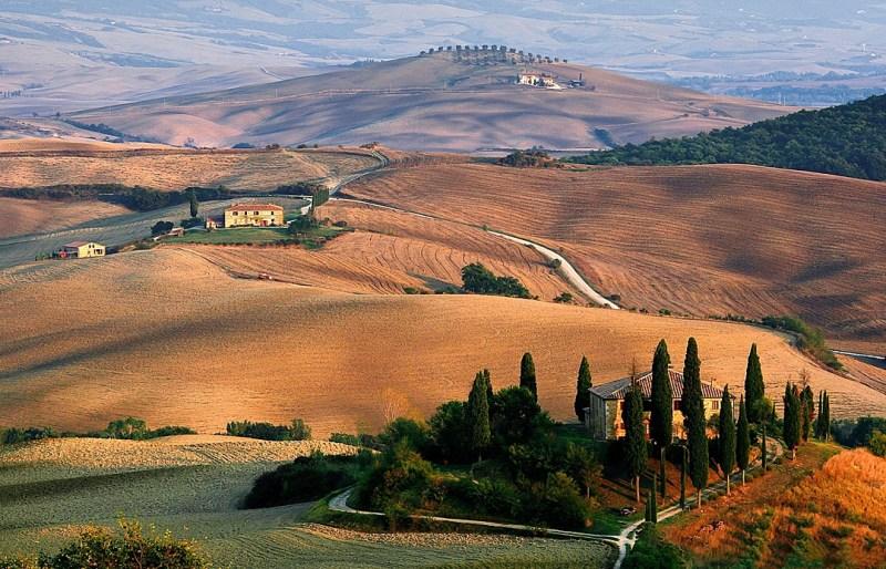Italy landscape in autumn