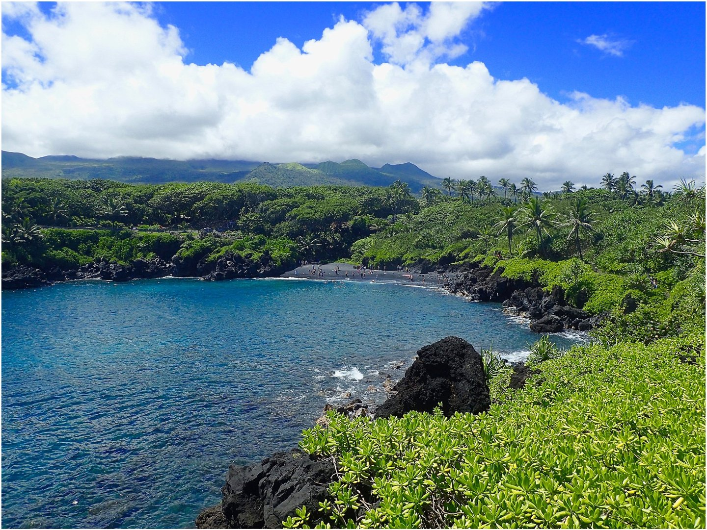 Wainapanapa Park- The road to Hana maui - Road or destination? Guest Post by Lara Olivia Miss Portmanteau? Club Elsewhere - The World's Travel Diary edited by Rosie Bell
