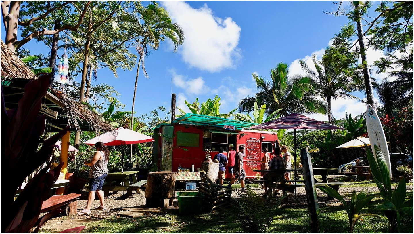 Garden Cafe Maui- The road to Hana maui - Road or destination? Guest Post by Lara Olivia Miss Portmanteau? Club Elsewhere - The World's Travel Diary edited by Rosie Bell