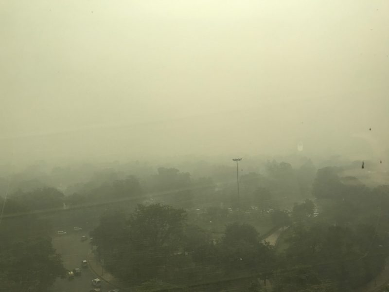 Delhi Air Pollution View