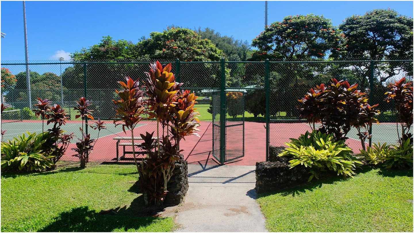Travaasa Hana Tennis Court The road to Hana maui - Road or destination? Guest Post by Lara Olivia Miss Portmanteau? Club Elsewhere - The World's Travel Diary edited by Rosie Bell