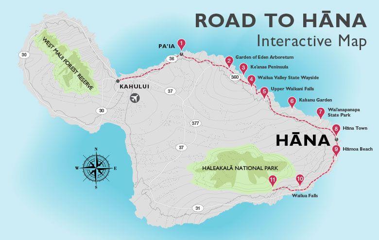 Road to Hana Map