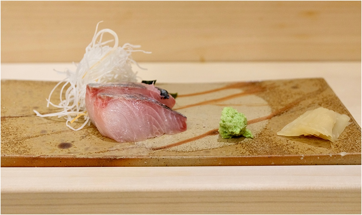 White fish sashimi - The best dinner of my life at Ginza Onodera Honolulu - Written by Lara Olivia Miss Portmanteau - Club Elsewhere - The World's Travel Diary edited by Rosie Bell