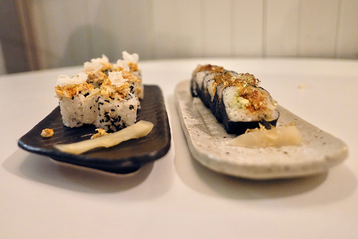 California roll Yashin- Yashin Ocean South Kensington- Yashin Ocean House London- Sushi without soy suace? Guest post by Lara Olivia Miss Portmanteau - Club Elsewhere- The world's travel diary - Rosie Bell Editor & travel writer - sushi omakase - London South Kensington Restaurants