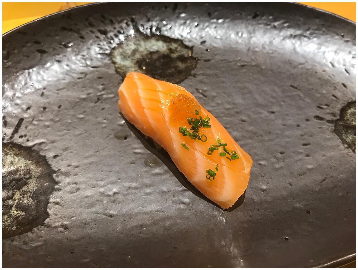 Sushi Tetsu Nigiri salmon