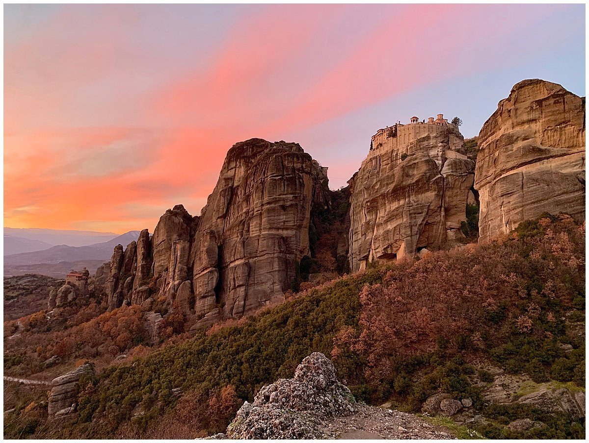 Sunsets over Meteora Greece