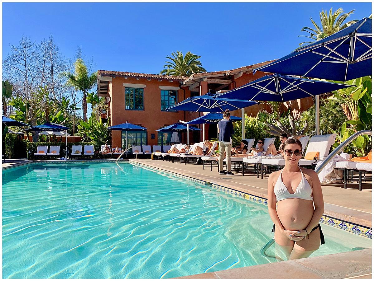 California Babymoon Pool Time