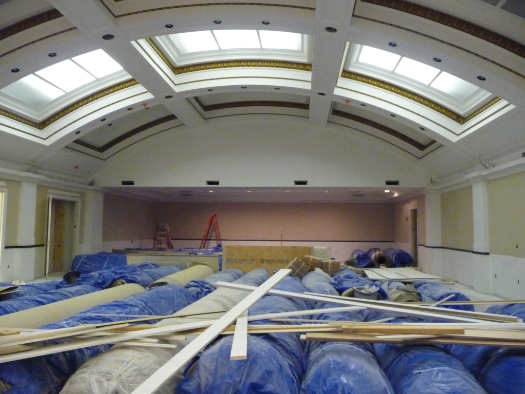 Ballroom--I also seem to remember that the ballroom was larger than this--have they moved a wall back? The lighted ceiling is an attempt to recreate the feel of skylights. I'm not sure it does.