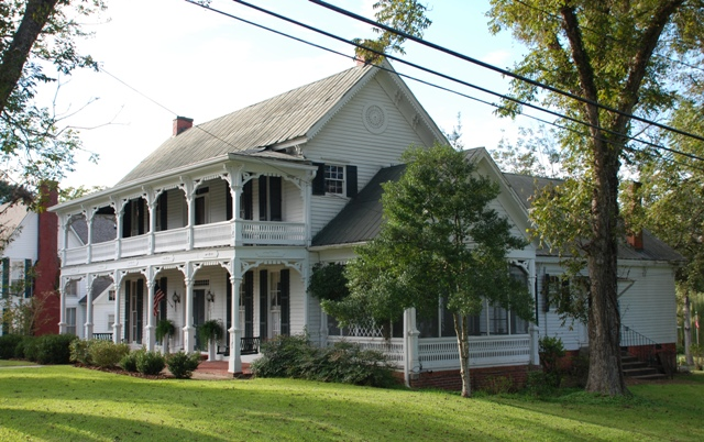 Capt. Ray House (rear section c.1830s, front two-story section c.1875, James Clark Harris, archt/builder)