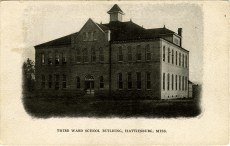 From Third Ward School building, Hattiesburg, Miss. Sysid 90641. Scanned as tiff in 2008/04/15 by MDAH. Credit: Courtesy of the Mississippi Department of Archives and History.